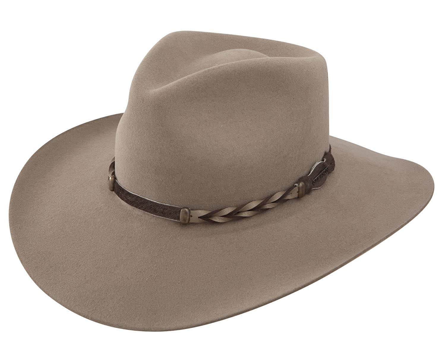 Stetson Men's 4X Drifter Buffalo Felt Pinch Front Cowboy Hat - Sbdftr-163420 Stone 096A50