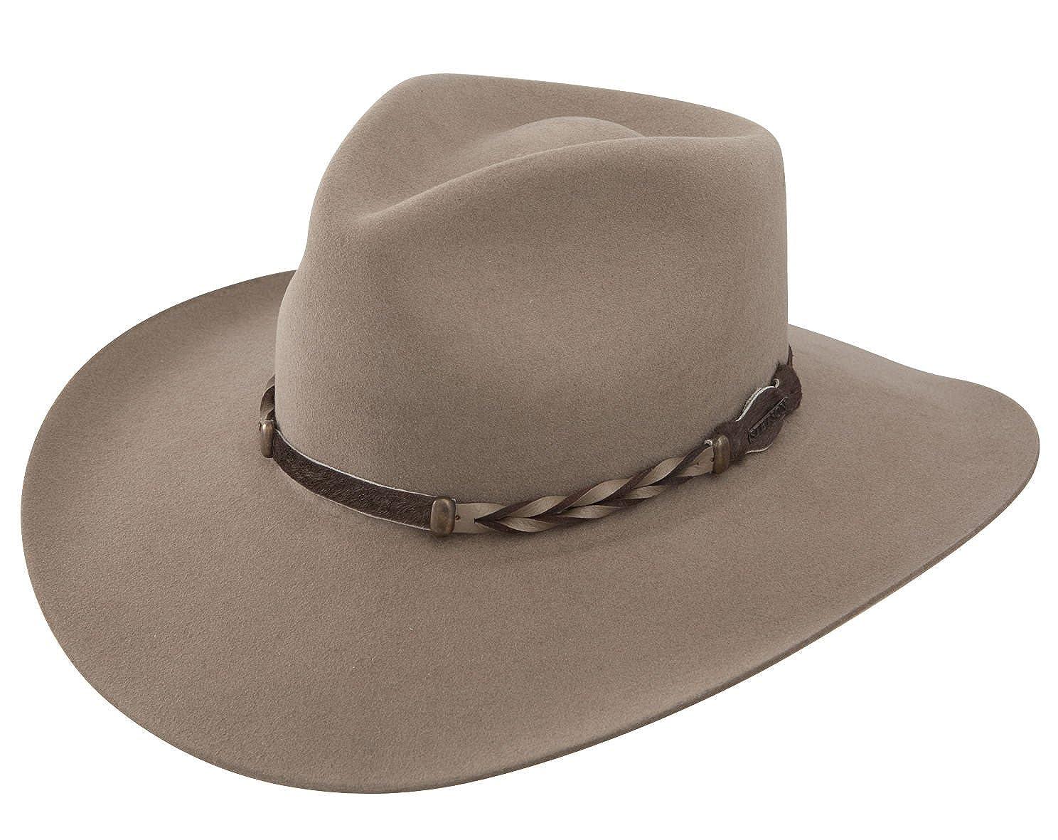 Stetson Men s 4X Drifter Buffalo Felt Pinch Front Cowboy Hat at Amazon  Men s Clothing store  Sombreros Vaqueros a69e507a47f