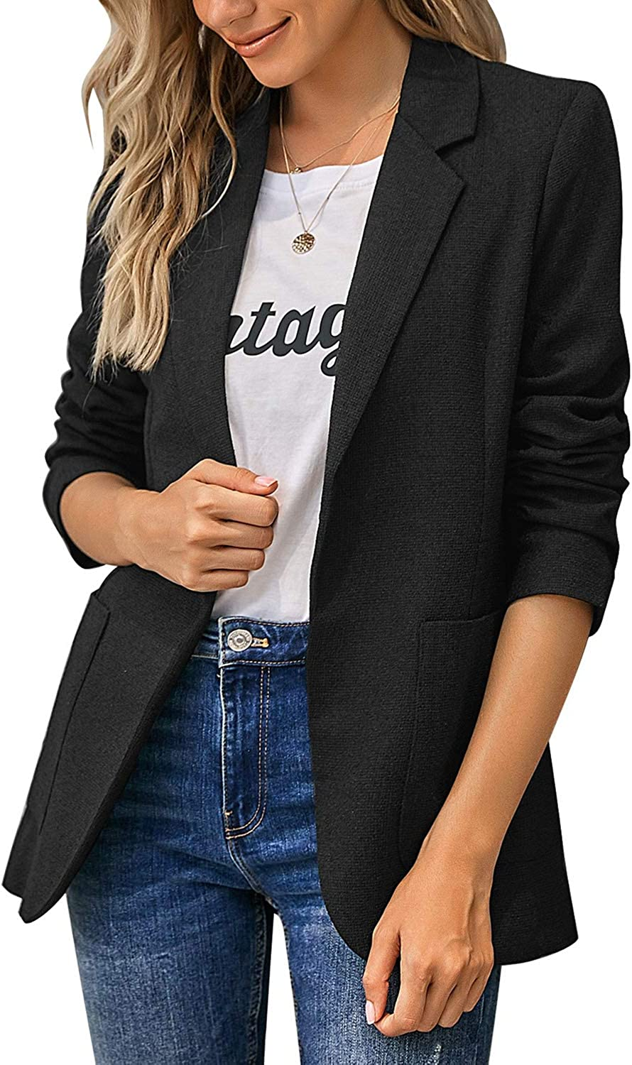 LookbookStore Women Casual Open Front Long Sleeve Jacket Suit Work Office Blazer