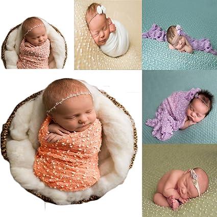 cbeb82671d92b Amazon.com: Coberllus Newborn Photography Props Newborn Wraps Baby ...
