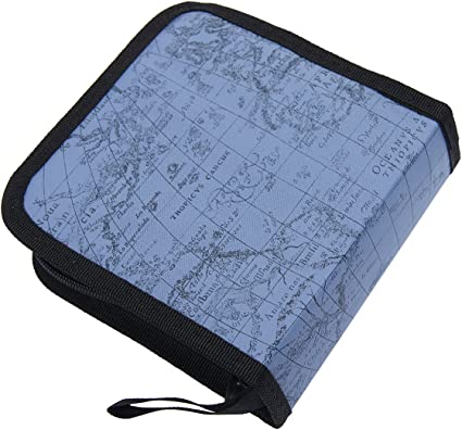 Mochiglory EVA World Map Pattern CD//DVD Bag 40//80 Discs Storage Carry Case Holder Wallet Carry Organizer