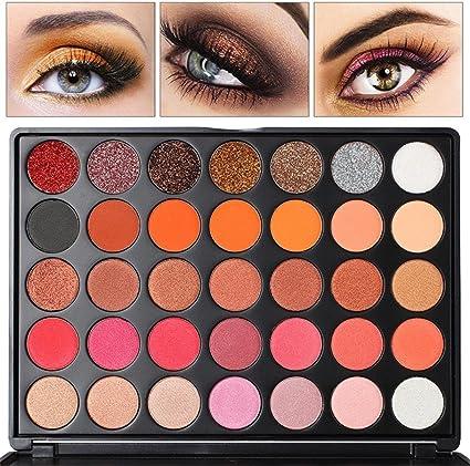 Paleta de sombra de ojos para maquillaje – Diadia 35 colores brillante sombra de ojos paleta de