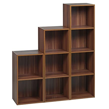 Top Home Solutions®, set di 3 scaffali in legno per libreria con ...