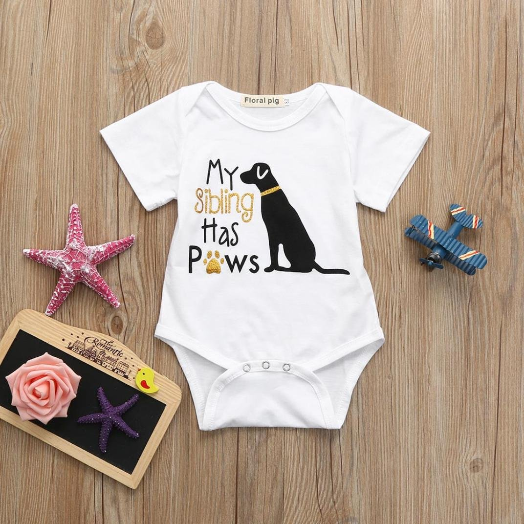 Memela Baby Boys Girls Clothes,Bodysuit Puppy Letter Print Jumpsuit Romper Layette 0-18 Months Infant Wear Spring//Summer