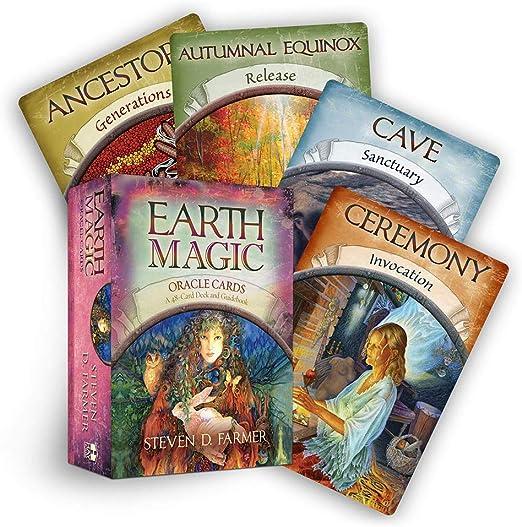 YETE Earth Magic Oracle Cards - Juego de Mesa de 48 Cartas, Proporciona guía de Vida y Lectura significativa, Juegos de Cartas para Fiesta en Grupo: Amazon.es: Hogar