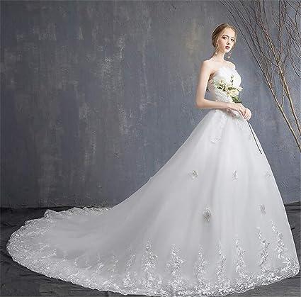 Vestido De Novia Para Mujer Novia Casarse Tubo Largo Encaje