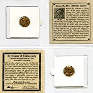 306 IT - 410 AD First Christian Empire ROMAN BRONZE COIN Genuine Ancient Antique from 306-410 AD - Genuine Roman Bronze Coin