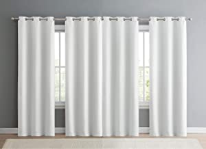 VCNY Home Jordan Collection Blackout Curtain Panel Pair-Triple Weave, Window Treatment for Bedroom, Living and Family Rooms, 38