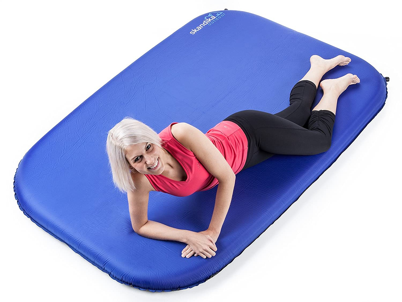 Color Azul Esterilla Auto-Inflable para Acampada skandika Night Double Sleep Well 10 Talla Standard