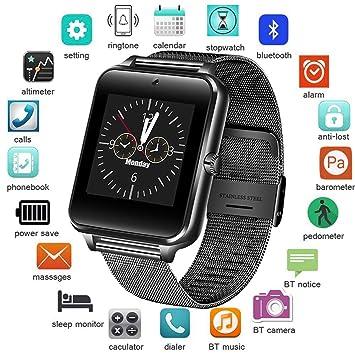 KDSF Pulsera de Actividad Hombres Smart Watch Bluetooth ...