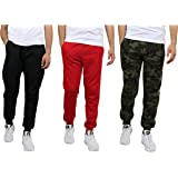 Galaxy by Harvic Mens Slim Fit Fleece Joggers Sweatpants 3 Pack