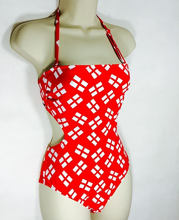 9f439c38e51 Ladies RESORT Cut Out England Multiway Swimsuit: Amazon.co.uk: Sports &  Outdoors