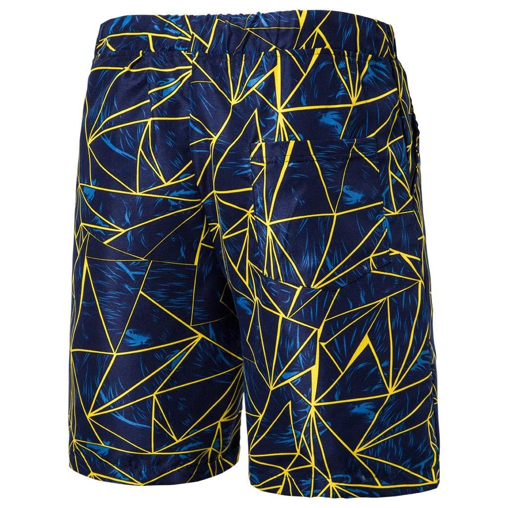 SKYLULU/♥/♥Mens Casual Mens Swim Trunks Beach Board Shorts Printed Pocket Beach Work Sport Trouser Shorts Pants