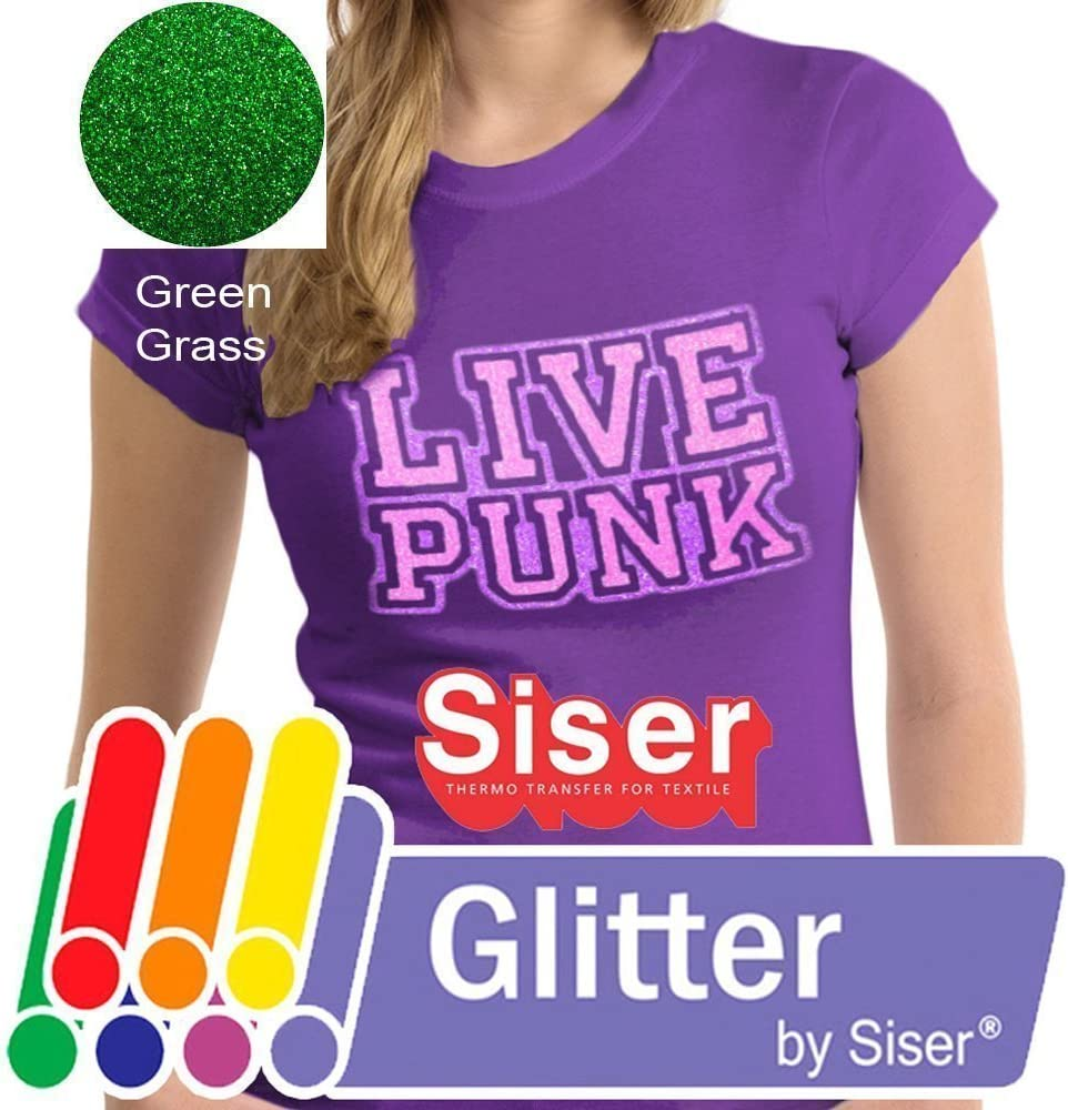 10ft x 10 Siser Glitter Green Easyweed Heat Transfer Craft Vinyl Roll Including Stainless Steel Weeding Tool