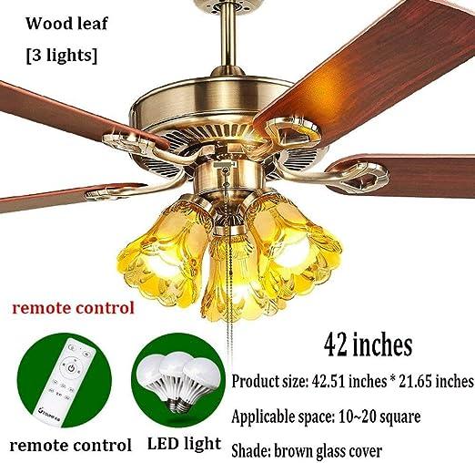 ZXTDSD ZXT Ventilador eléctrico araña de latón Antiguo Restaurante ...