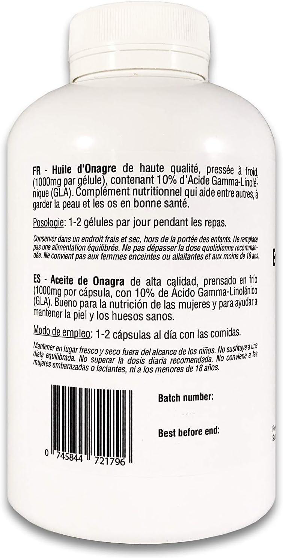 Aceite de Onagra | 1000mg x 200 perlas | Calidad Premium, Prensado ...