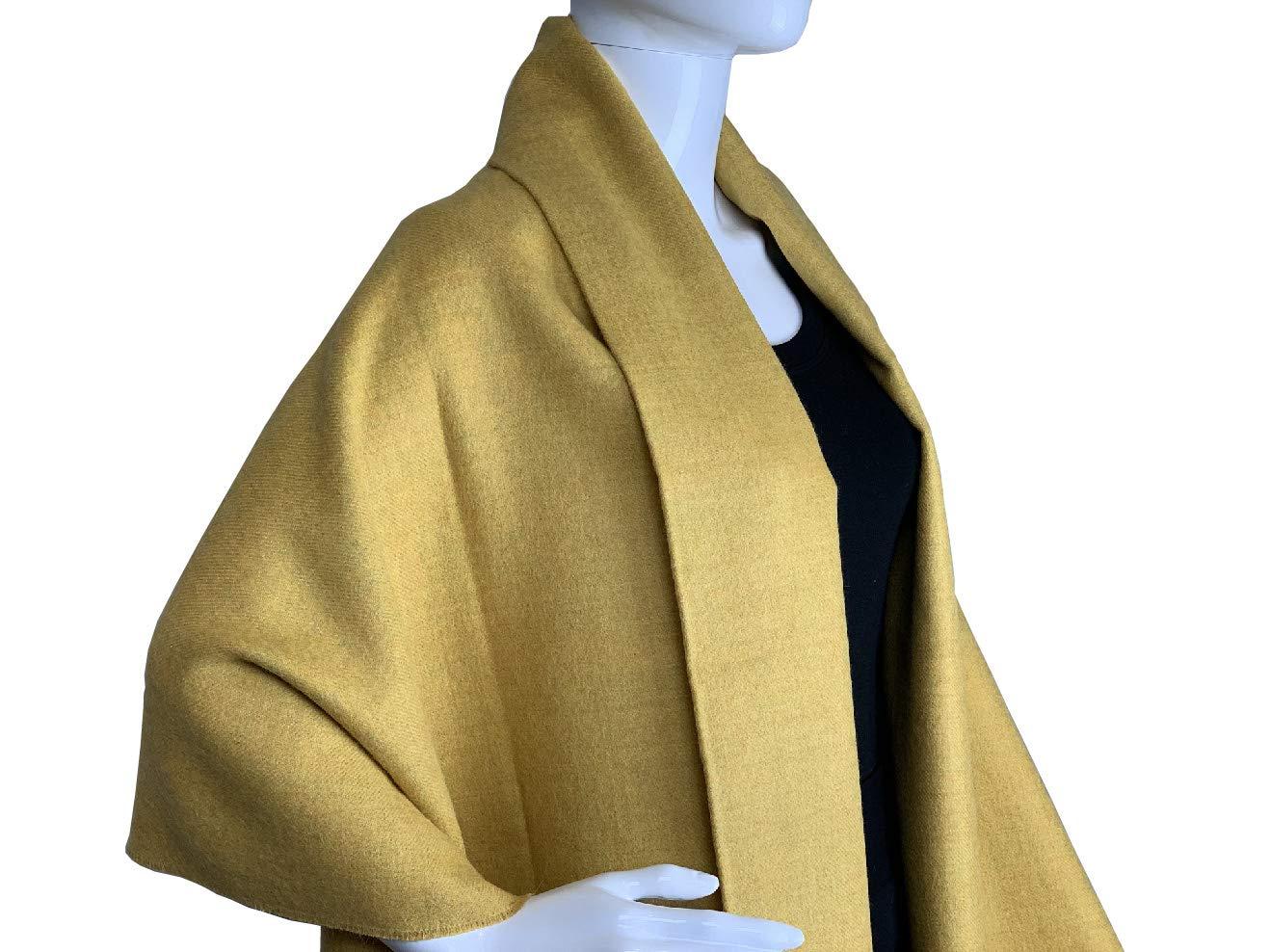 Novelty Hues Luxury Alpaca Wool Scarf Throw   100% Baby Alpaca - Yellow Honey