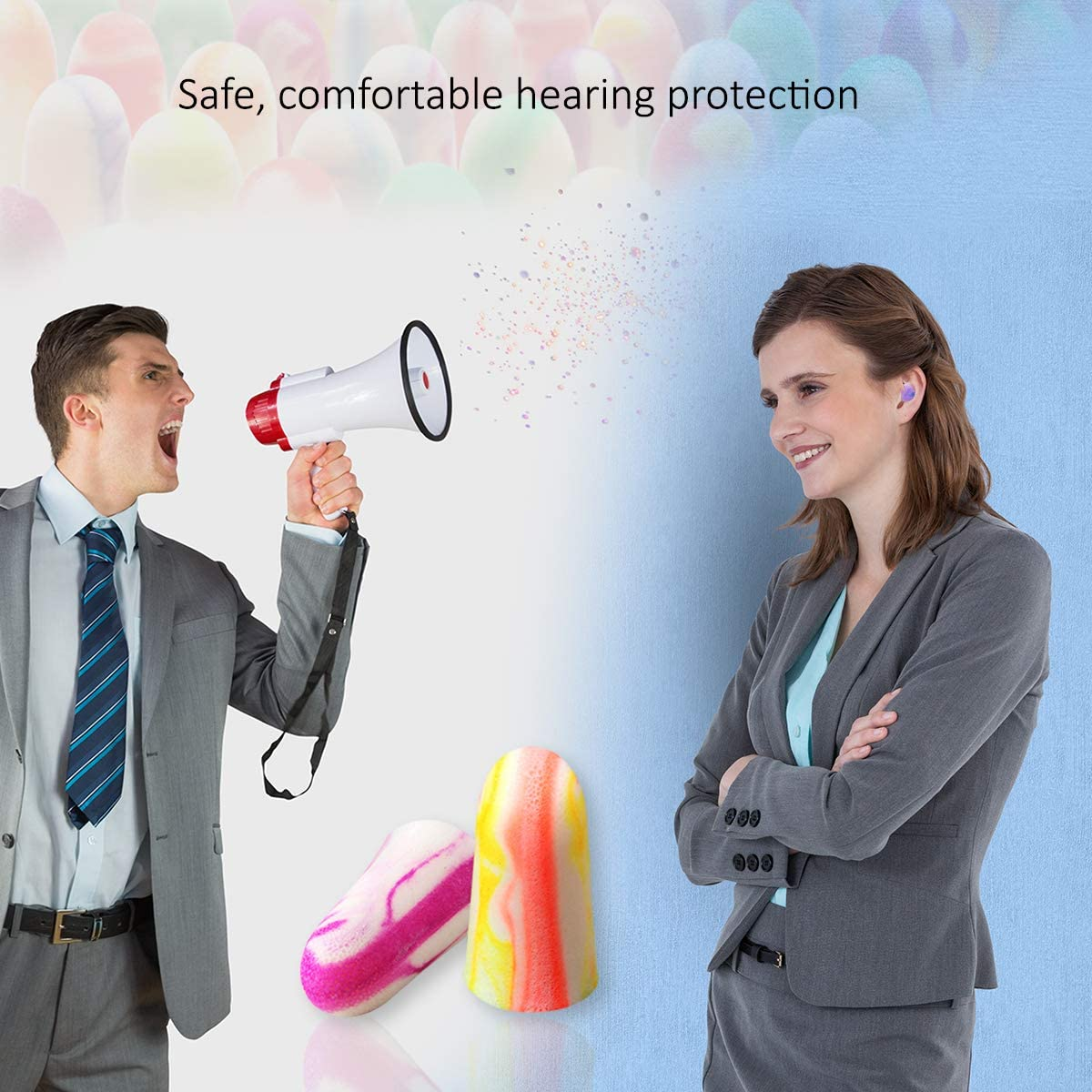 33dB Highest NRR Made MOLDEX Sparkplugs Soft Foam Ear Plugs 50 Pairs Earplugs