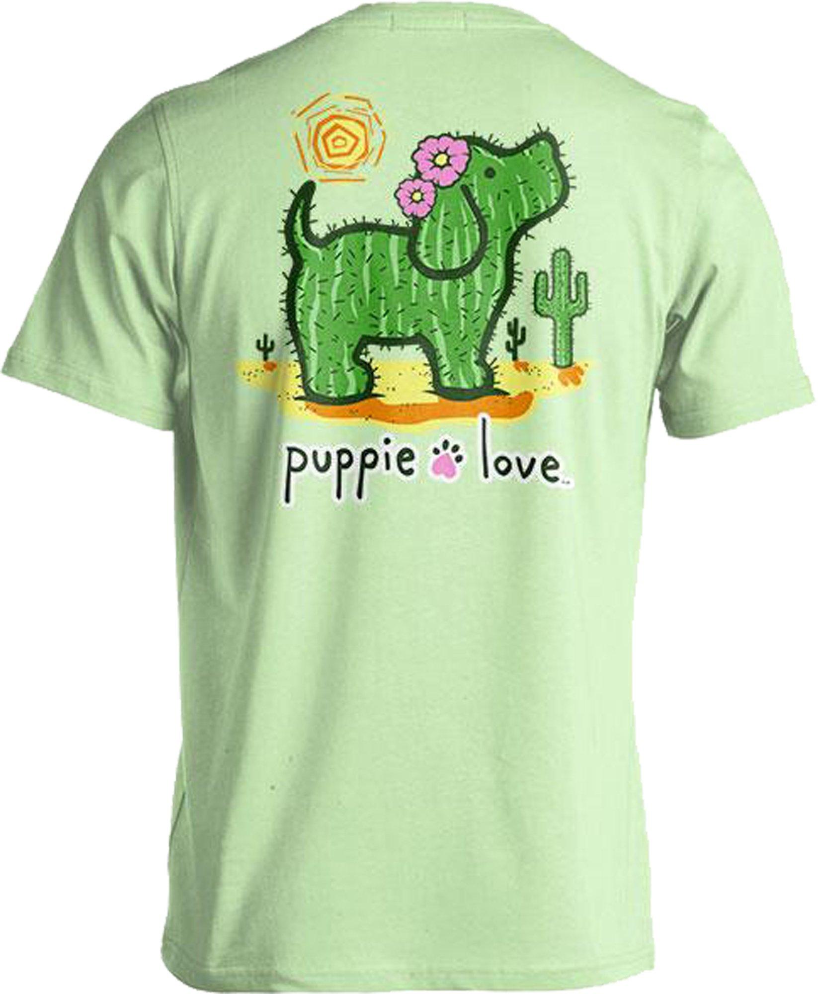 Rescue Dog Adult Unisex Short Sleeve Cotton T-Shirt, Cactus Pup (Small, Mint)