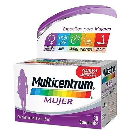 Multicentrum Mujer Complemento Alimenticio con 13 Vitaminas y 11 Minerales, Con Vitamina B1, Vitamina B6, Vitamina B12, Hierro, Ácido Fólico, Calcio, ...