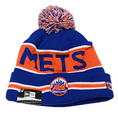 Image Unavailable. Image not available for. Color  New York Mets the Coach  New Era Pom Knit Hat dbc5df60735