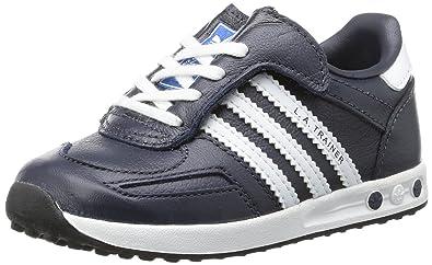 adidas trainer blu in pelle