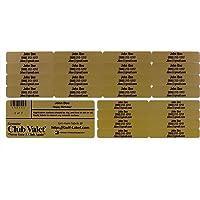 Golf Club Labels – Custom Labels – 24 Classy Golf Valet Labels for Golf Club ID Identification Tags, Golf Shaft Labels…