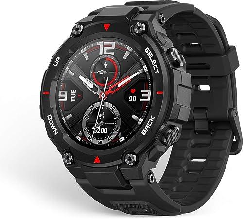 Amazfit T-Rex Smartwatch Pulsera Inteligente Reloj Deportativo Monitor de Sueño Notificación Llamada y Mensaje 5ATM GPS Diseño Resitente Ambiente para ...