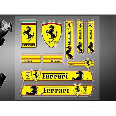 Encell PVC Auto Sticker Decal Emblem Badge for Ferrari: Automotive
