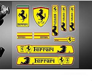 Encell Set of 2 PVC Auto Sticker Decal Emblem Badge for Ferrari