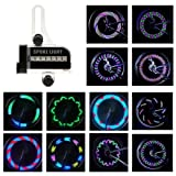 BestFire Bright Bike Wheel Lights Waterproof 14LED (Double Sides) Spoke Light for Night Riding 30 Different Patterns Change
