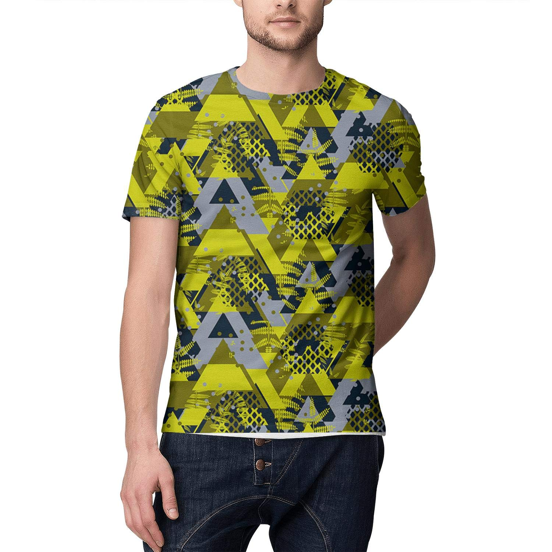 3D Print Young Men T Shirt Design Comfy Green Army Hex Camo Short Sleeve Shirts