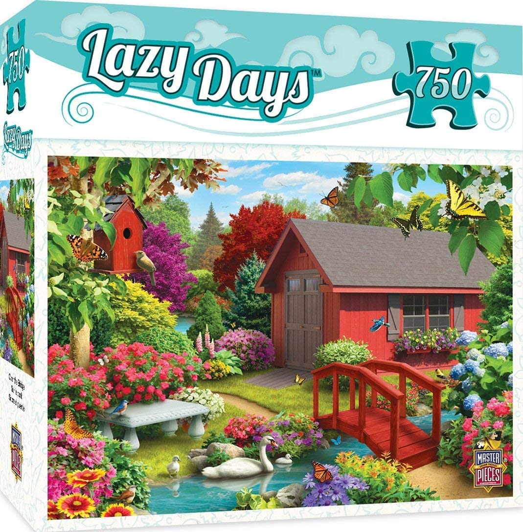 MasterPieces Lazy Days Jigsaw Puzzle, Over The Bridge, Featuring Art by Alan Giana, 750 Pieces