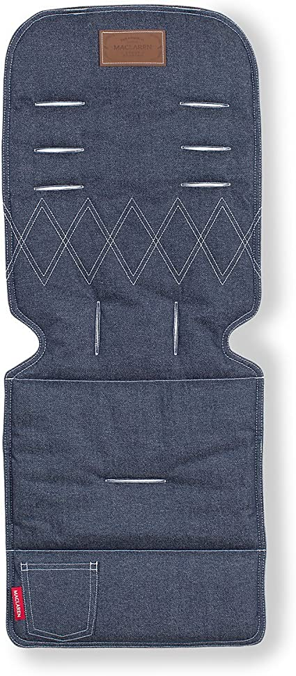 Maclaren Universal Seat Liner- Perfect Stroller Accessory to add Style and Comfort Machine Washable Attaches to Harness Straps of All Maclarens and All Umbrella-fold Stroller Brands Two-Sided
