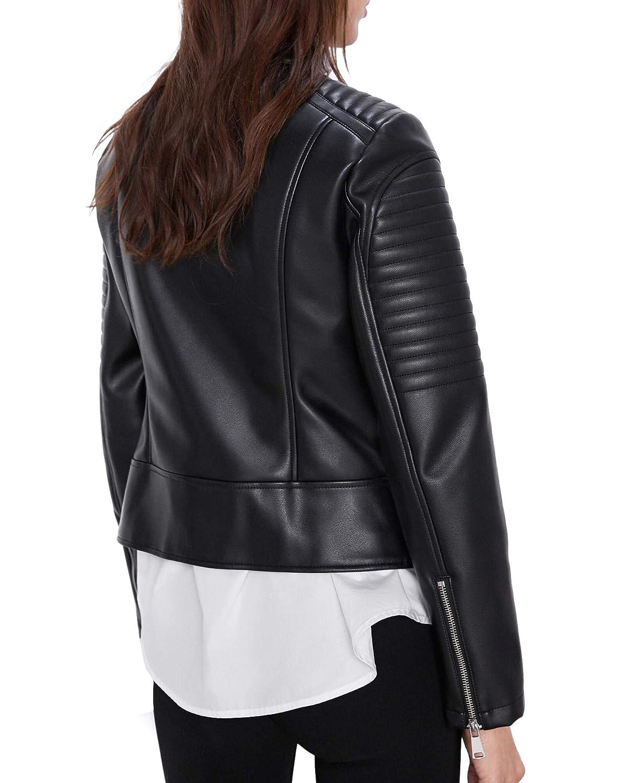 Zara 3046/249 - Chaqueta de Motorista para Mujer (Piel sintética ...