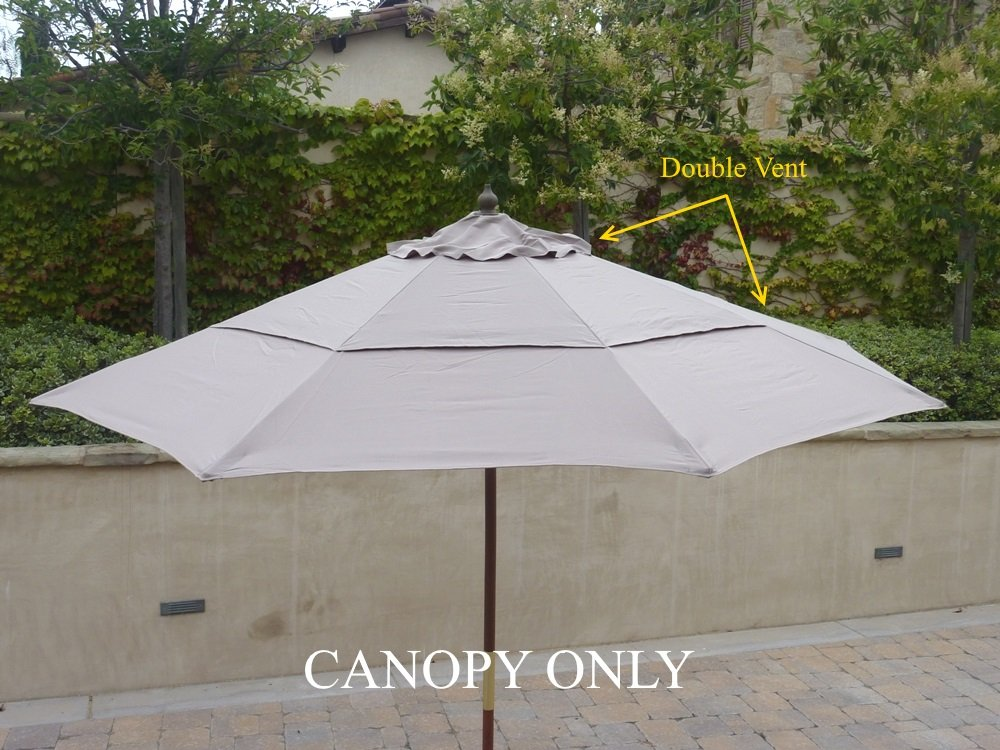 Amazon.com : 9ft Market Umbrella Replacement Canopy 8 Ribs Taupe (Canopy  Only) : Patio Umbrellas : Garden U0026 Outdoor