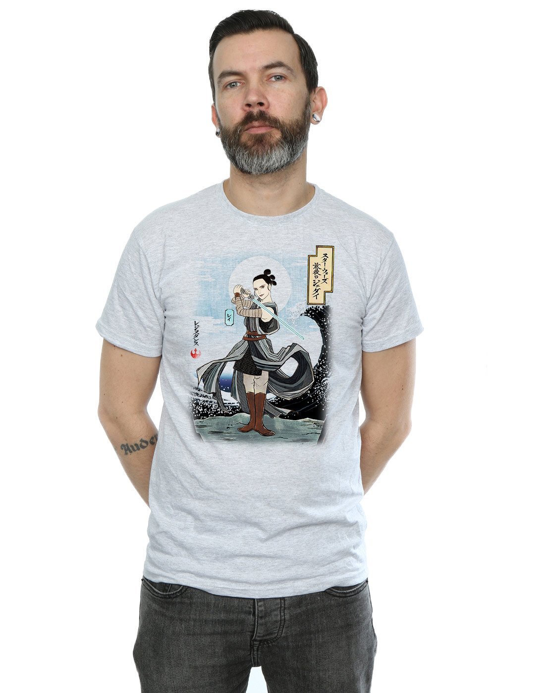 Star Wars S The Last Jedi Japanese Rey Tshirt