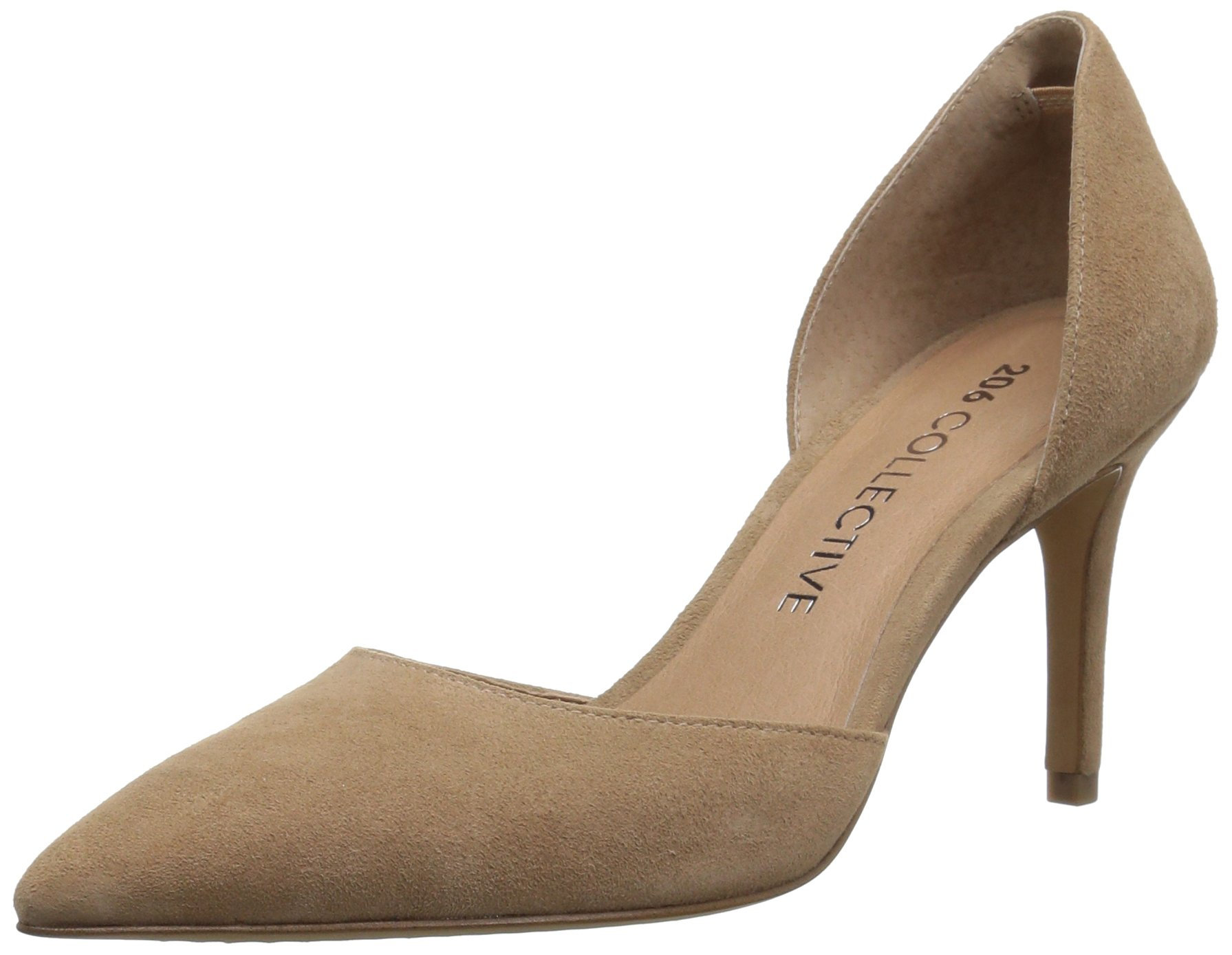 206 Collective Women's Adelaide D'Orsay Dress Pump, Caramel Suede, 6 B US