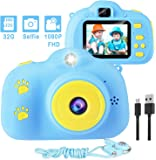 Kids Camera,1080P 8MP Selfie Kids Digital Camera for Girls and Boys with 32GB SD Card Children Video Camera Birthday/Christmas/Holiday Gifts for 3 4 5 6 7 8 9 10 Year Old Kids