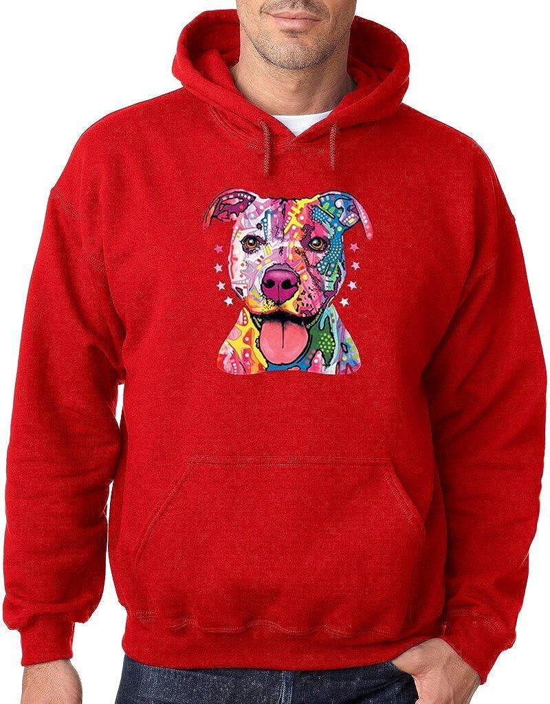 VISHTEA Pitbull Love Pitbull Mom Dad Hoodie Cute Pitbull Art Cool Pitbull Sweatshirt