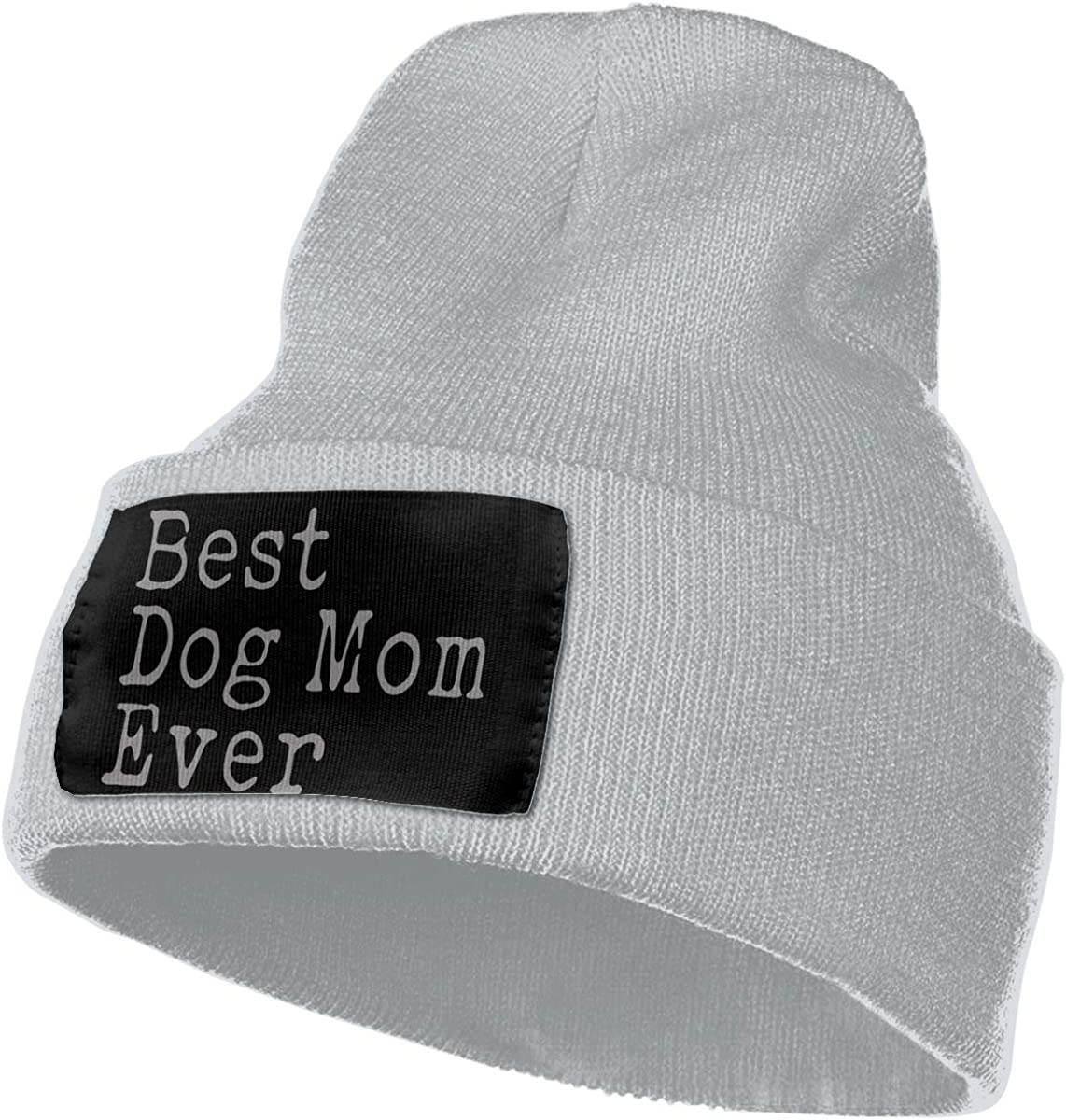 WHOO93@Y Mens Womens 100/% Acrylic Knit Hat Cap Best Dog Mom Ever Cute Ski Cap
