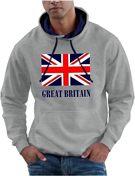 lightly Long Sleeve Hooded Sweatshirt Best British Flag Trendy Hoodies for Men