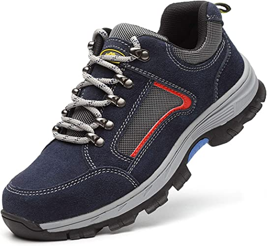 SUADEEX Damen Herren Sicherheitsschuhe Sportlich Wärme Gefüttert Trekking Wanderhalbschuhe Stahlkappe Arbeitsschuhe Winterschuhe Hiking Schuhe