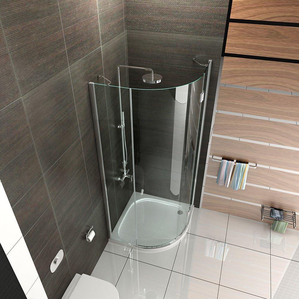 Cabina de ducha Cuarto Círculo Cristal Mampara 90 x 90 X200 cm ...
