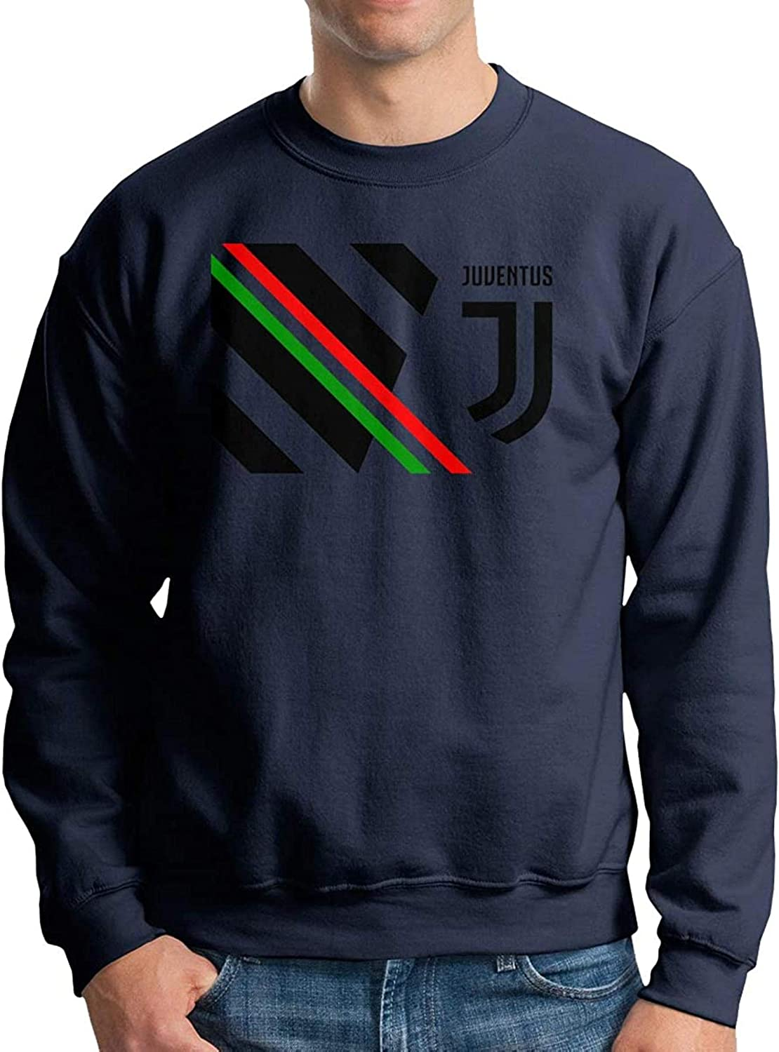 Ju Football Green II Men's Boys Crewneck Basketball Team Unisex Pullover Sweatshirt Crew Neck Hoodie Black