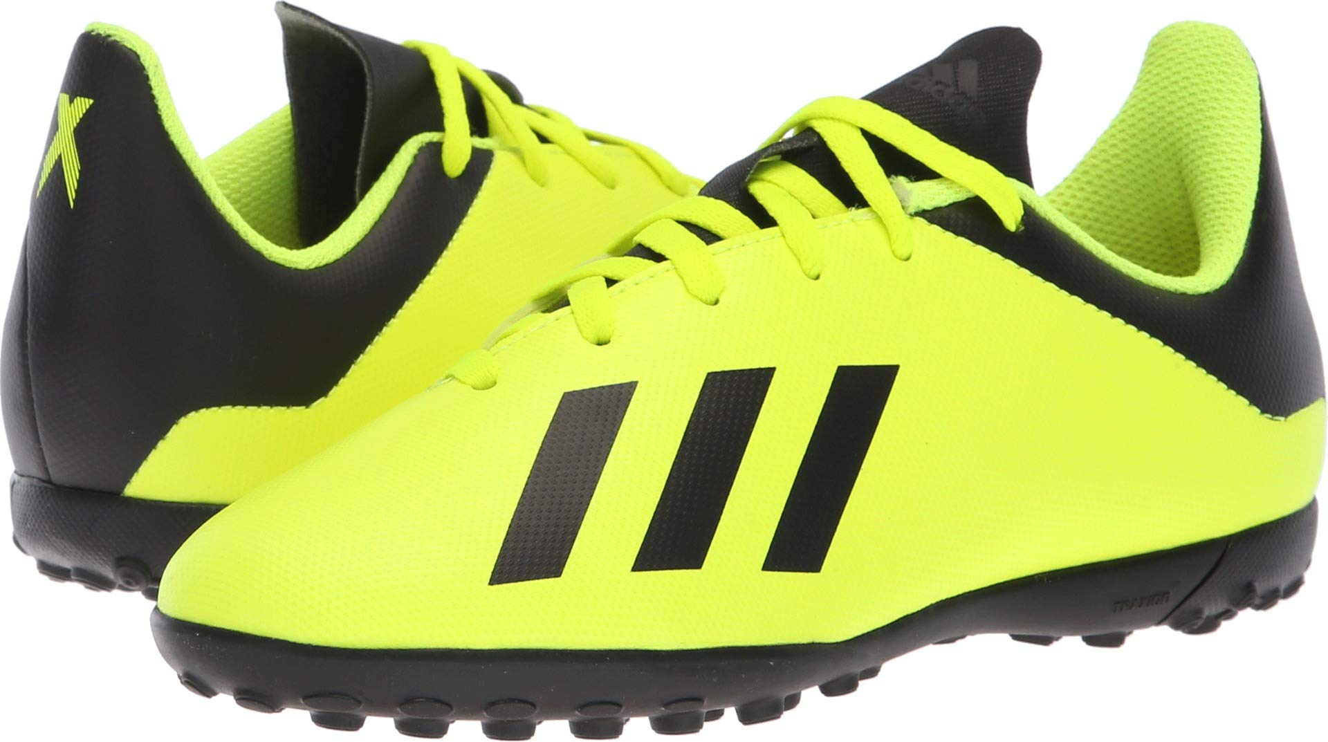 adidas Unisex-Kids X Tango 18.4 Turf Soccer Shoe, Solar Yellow/Black/Solar Yellow, 1.5 M US Little Kid