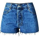 Amazon.com: nutsima Talle Alto Denim pantalones cortos para ...