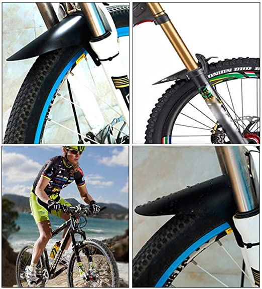Details about  /BG/_ Bicycle Bike Extended Rear Ass Fender Clip on Mudguards Road /& Rain Saver Su