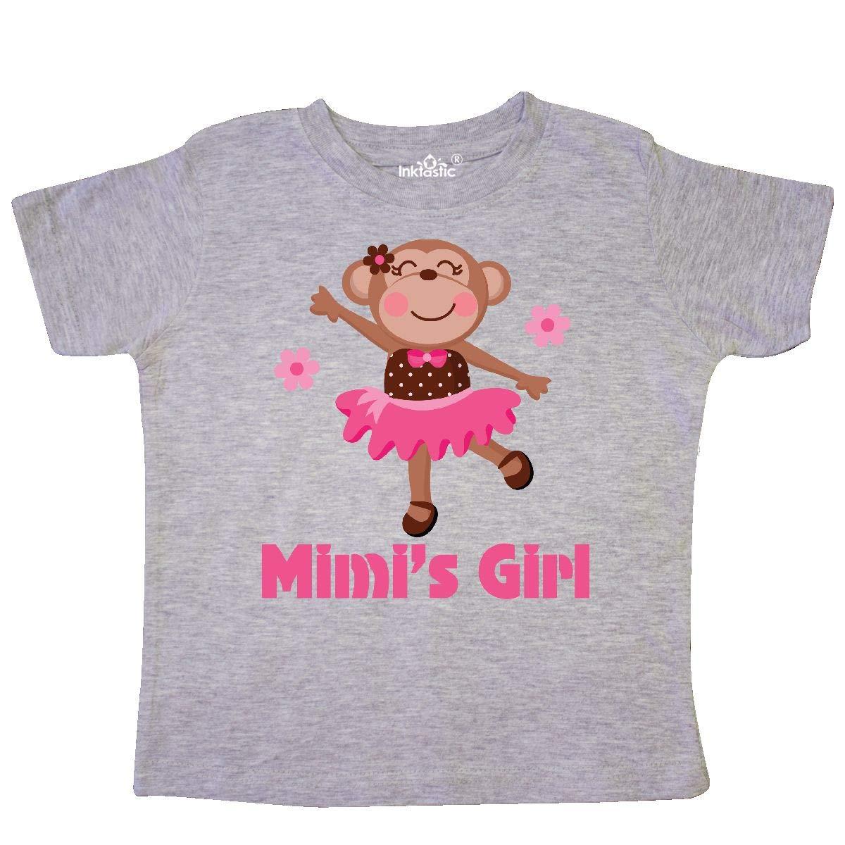 inktastic Mimis Girl Monkey Toddler T-Shirt
