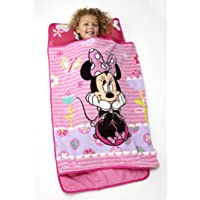 Disney Minnie Mouse Toddler Rolled Nap Mat, Sweet as Minnie Deals